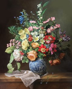 flowerpainting, pieter wagemans, wagemans,pronkstuk, flower art